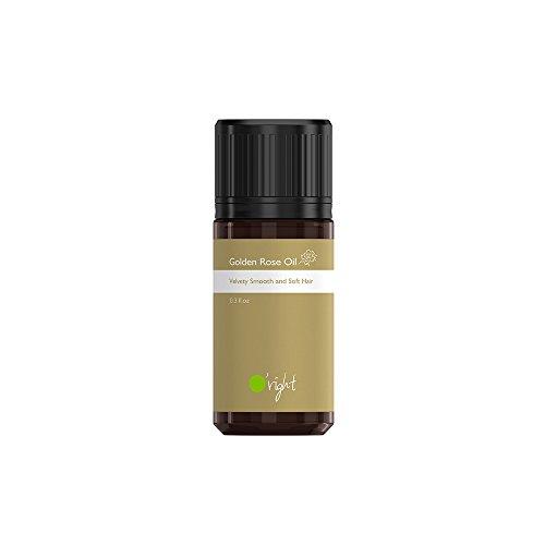 O'right Golden Rose Oil (10ml) Velvety Smooth and Tender Hair, for Color Treated Damaged Hair, Gluten Free, Vegan (Tender Oil Touch)