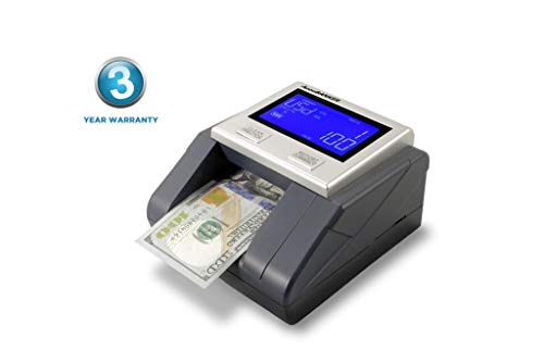 Counterfeit Currency Detection - AccuBANKER D585 Multi-Scanix Counterfeit Currency Detector, Multi-Orientation Feeding System, Banknote Verification, Multi-Currency Detection (USD, EUR, GBP), Visual and Audible Alerts
