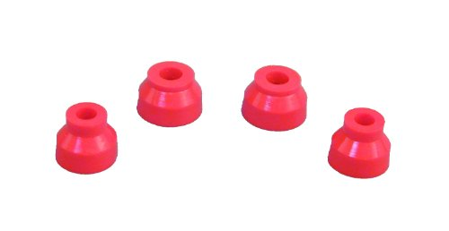 (Prothane 19-1715 Red Ball Joint Boot Kit - Pack of 4)