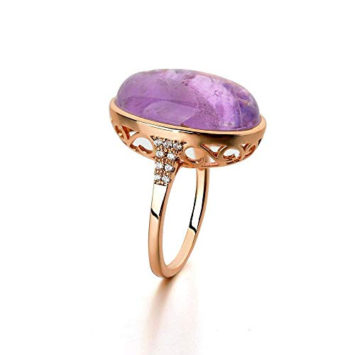 MGZDH Hollow Diamond Natural semi-Gemstone Ring ()