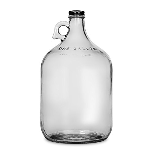 1 Gallon Glass Water Bottle Jug with 38 mm Metal Screw Cap (1)