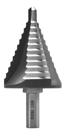 MAGBIT 851.1500 MAG851 1/4-Inch to 1-1/2-Inch Max Diameter High Speed Step Drill Bit, 11 Steps