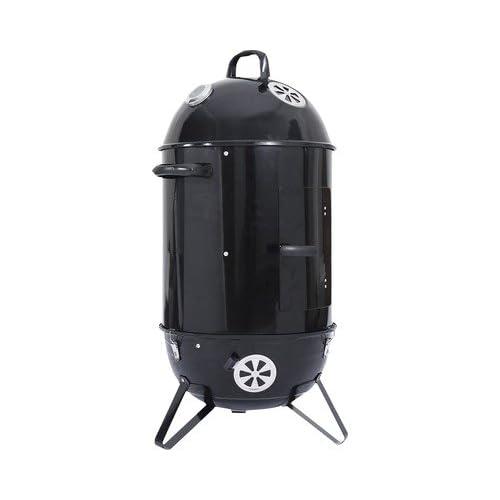 BBQ Räucherofen Smoker - 47 cm - 103x58x47 cm HLB - mit Wasserbehälter - Luftzufuhrregulierung Deckel - Säule