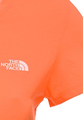 The north face s/s orange reaxion tee pour femme