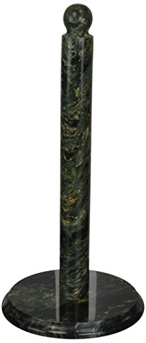 Creative Home 74122 Deluxe Natural Green Marble Paper Towel Holder, Dia. 6-1/2