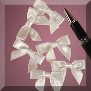 White Satin Bows, 1-3/8