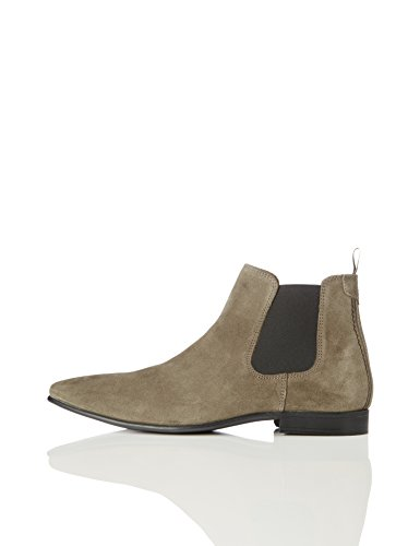 Amazon Brand - find. Men's Albany Formal Suede, Stone, US 12 - Leather Formal Ankle Boot