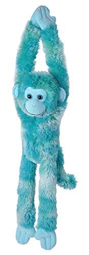 (Wild Republic, Hanging Monkey Plush, Stuffed Animal, Plush Toy, Gifts for Kids, Vibe Blue, 20