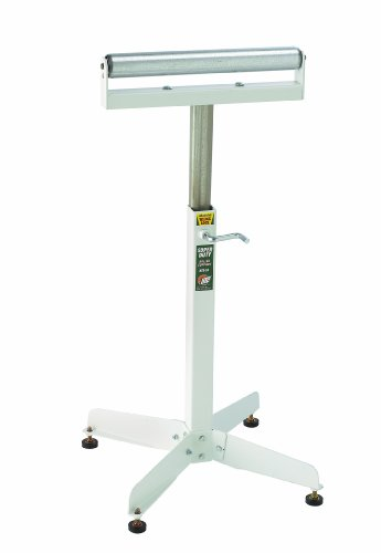 HTC HSS-18 Super Duty Adjustable 28-Inch to 45 1/2-Inch Tall Pedestal Roller Stand with 16-Inch Ball Bearing Roller, 500 Lbs. Material support by HTC