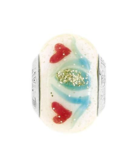 Venetiaurum - Charm de cristal de Murano original y plata de ley 925.: Amazon.es: Handmade