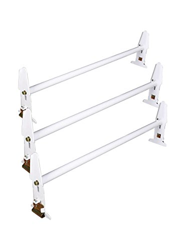 (MPH Production Adjustable Van Roof Ladder Rack 500LBS 3 Bars Chevy Dodge Ford GMC Express 77'')