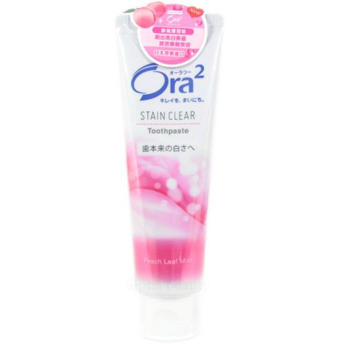 sunstar-japan-ora2-stain-clear-toothpaste-tooth-care-140g-peach-leaf-mint