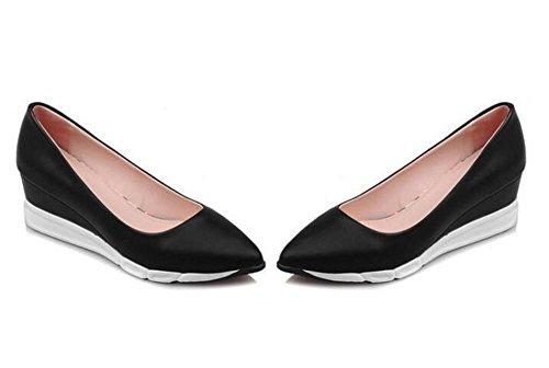 Wedge Scarpette tallone dei 38 singoli le dita BLACK 38 della XIE impermeabili piedi pattini bocca poco da donna profonda chiuso dAnwTwtWx