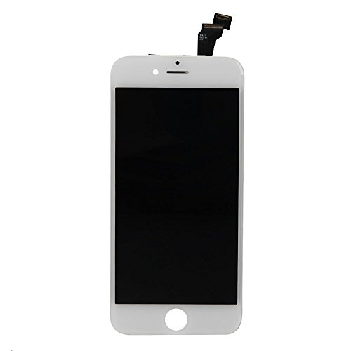 for iPhone 6 Screen Replacement, LCD Display & Touch Screen Digitizer Replacement Full Assembly for iPhone 6 (4.7 inch) with Free Tools Kit (White) by FFtopu (Image #1)