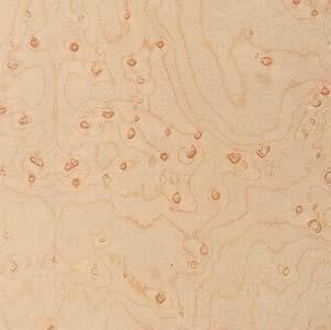 Wood Veneer, Maple, Birdseye Heavy, 2 x 8, 10 mil Paper Backer