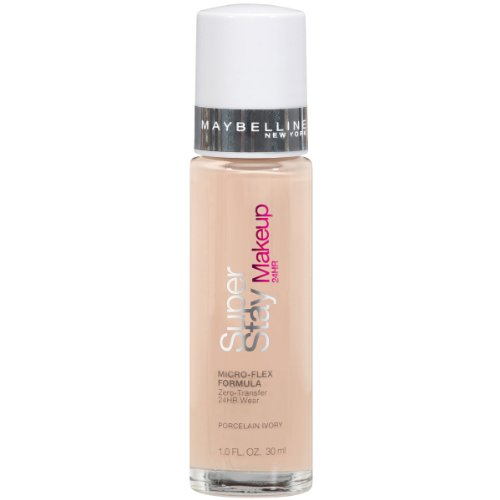 Ivory Porcelain - Maybelline New York Super Stay 24Hr Makeup, Porcelain Ivory, 1 Fluid Ounce
