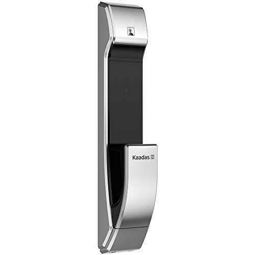 Kaadas K7-5 Push-Pull Keyless Smart Lock,Touch Pad,Fingerprint+Password+RFID+Key, Automatic Mortise (Satin Nickel)
