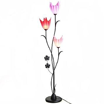 GUTOU-LDD Lámpara de pie Forma De La Flor Moderna Mesa De ...