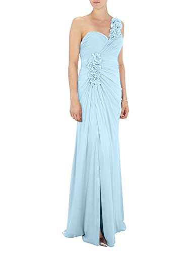 Neu Traeger Damen Einfach Himmel Charmant Blau Ein Rosa Bodenlang Abendkleider Brautjungfernkleider A Linie xIvwHqwd