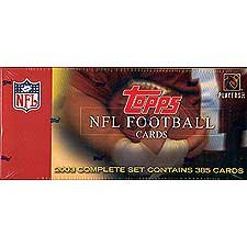 2003 Topps Football Factory Sealed 385 Card Set Loaded with Stars Including Michael Vick, Brett Favre, Emmitt Smith, Jerry Rice Plus Rookie Cards of Carson Palmer, Rex Grossman, Anquan Boldin, Willis Mcgahee, Byron Leftwich and Others! 2003 Topps Football Card