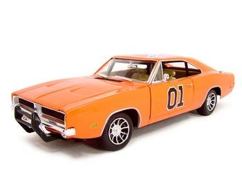 1969 dodge charger dukes of hazzard general lee diecast model 118 die cast car