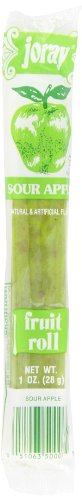 Joray Fruit Roll, Sour Apple, 1-Ounce Units (Pack of 48) (Rolls Real Fruit)
