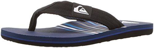 Quiksilver Youth Molokai Layback (Big) Sandal, Black/Blue/Blue, 10 M US Little Kid