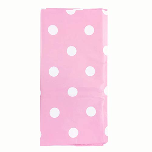 Polka Dot Tablecloth - 3 Pack Plastic Tablecloths Disposable Table Covers for Parties Picnic Thanksgiving Christmas Wedding Anniversary 54