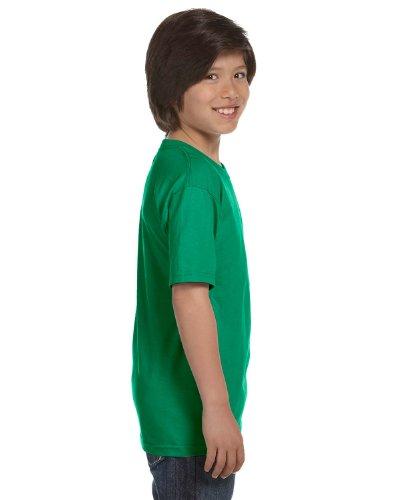 Gildan Dryblend Youth T-Shirt, Kelly Green, Medium