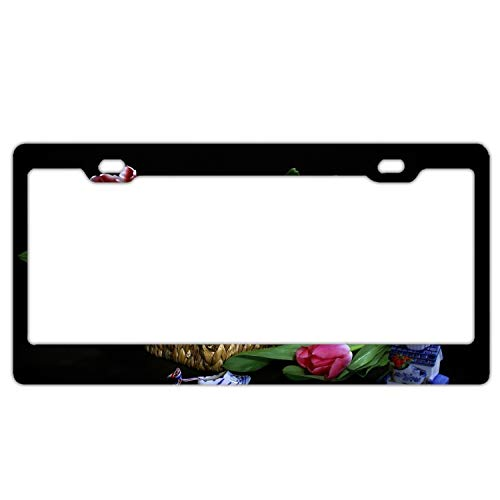 Imtailang Tulips Bouquet Basket Mill Shoes China Plate Tag Best Design Cool Metal License Plate Frame for ()