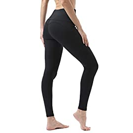 Vogyal High-Waist Yoga Pants Tummy Control 4 Way Stretch Workout Leggings with Pockets