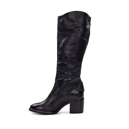 High Knee Loretta Womens Boots Toe Patricia Nash Closed Black Fashion YxTqp4wR4