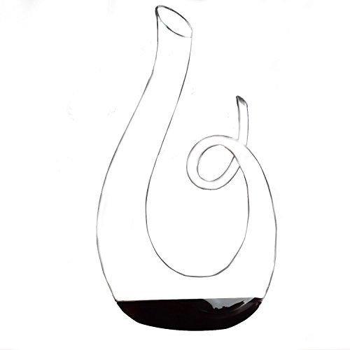 HanzeekTM Music notation shape Wine Decanter -53 oz(1580ML)-Perfect Birthday Gift for Men or Women - Unique Gifts for Him or Her ,Coworkers, Mom, Dad, Son, Daughter, Husband or Wife (Grapevine Wine Stopper)