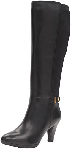Klein Black Riding Leather Women's Boot Delray Anne paq6CwZq