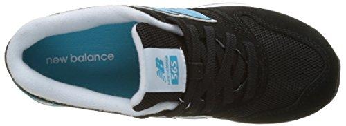 New Balance Wl565ktw B Lifestyle, Sneakers Basses Femme, Multicolore (Black/Turquoise), 35 EU