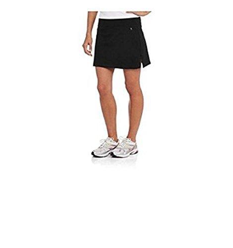 Danskin Now Womens Basic Skort For Tennis, Golf or Active (Large, Black)