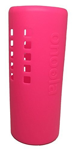 Onoola Silicone Sleeve for Hydro Flask Water Bottles (Multiple Sizes & Colors) (Glow Pink, 32oz) (Booties Suade)