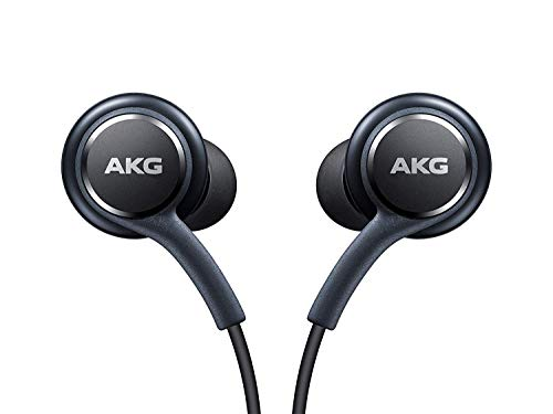 OEM Stereo Headphones w/Microphone for Samsung Galaxy S8 S9 S8 Plus S9 Plus Note 8 - Designed by AKG - 100% Original