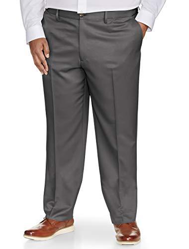 (Amazon Essentials Men's Big & Tall Classic-Fit Wrinkle-Resistant Flat-Front Dress Pant, Dark Gray, 54W x 30L)