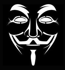 Guy Fawkes V For Vendetta Decal Vinyl Sticker|Cars Trucks Vans Walls Laptop| White |5.5 x 4.5 in|LLI234