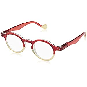 A.J. Morgan Women's Goose - Power 1.50 54248 Oval Reading Glasses, RED/BEIGE, 1.5