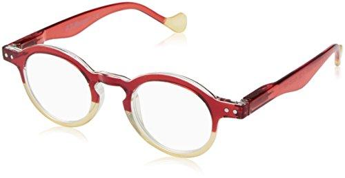 1c736bc54867 A.J. Morgan Women's Goose - Power 1.00 54248 Oval Reading Glasses,  RED/Beige,