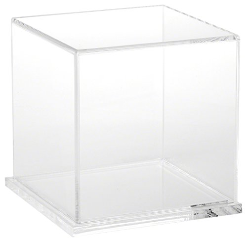"""Plymor Brand Clear Acrylic Display Case with Clear Base, 6"""""""