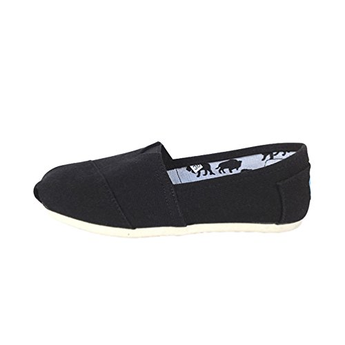 Unita Uomo Dooxii Loafers Espadrillas Scarpe Moda Tinta Casuale Flats Basse Unisex Slip Donna on nero Scarpe FHqH8w