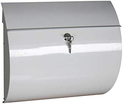 メールボッ ハンギング担保郵便受けドロップボックス壁掛けメールボックスの耐久性のある広々としたキーまたはコンビネーションロックボックス 大型 郵便受け (Color : White, Size : 37.5x11x32.5cm)