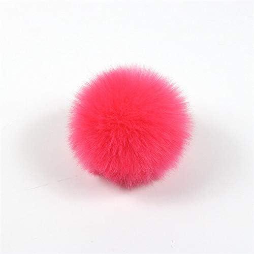 KKCV1 ピース 8 センチふわふわフェイクウサギの毛皮ポンポンボール DIY キーチェーンポンポン毛皮小物女性のバッグチャー