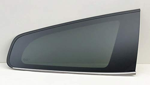 (NAGD Fits 2009-2017 Chevrolet Traverse Passenger Right Side Rear Quarter Window Glass Partial Chrome)