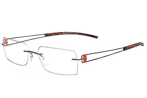 Silhouette Eyeglasses Titan Elements 7759 6053 Brown/Oran...