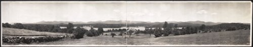 C1910 Kezar Lake And The White Mountains From Center Lovell  Maine 42  Vintage P