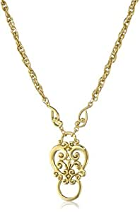 1928 Jewelry Gold-Tone Heart Eyeglass Holder Pendant Necklace, 28""